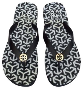 Tory Burch Black and White Sandals