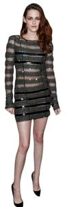 Catherine Malandrino Beaded Embellished Striped Dress
