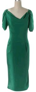 Zac Posen Silk Night Out Cowl Pencil Dress