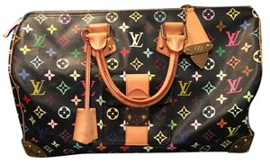 Louis Vuitton Satchel in Black Multicolor