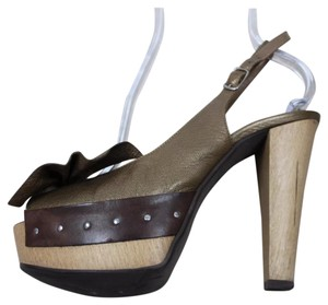 Marni Olive, brown Platforms