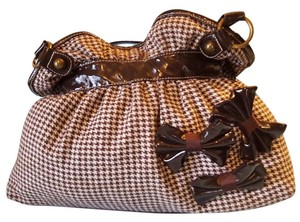 Cato Houndstooth Brown And White Shoulder Bag