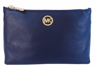 Michael Kors Fulton Phone Navy Clutch