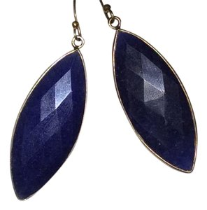 Mary Louise Designs Navy Blue Lapis Multi Facted Drop Earrings