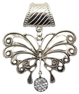 Unknown Butterfly Rhinestone Scarf Pendant Charm Jewelry Free Shipping