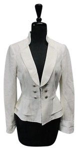 White House | Black Market White House Black Market White Long Sleeves Clasp Solid Lined Blazer 5494 A