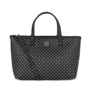 Tory Burch Tote in Black White Dots