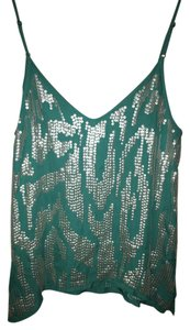 Madison Marcus Sequin Embellished Nye Vacation Party Top Turqoise
