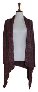 Lucky Brand Lightweight Sweater Heather Asymmetrical Shawl Size Large Cardigan
