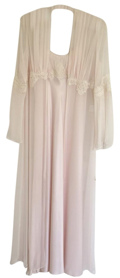 Soft Pink 2 -piece Night Gown - Lingerie Long Casual Maxi Dress Size ... 3d9a872ae