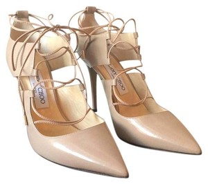 Jimmy Choo Ballet Pink Shiny Leather Pumps