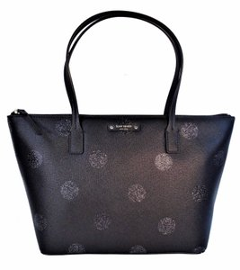 Kate Spade Purse Sparkle Tote in Black