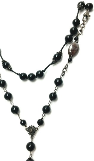 Kinley Sterling silver Rosary Cross Black Onyx Kinley Necklace Image 5