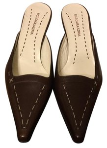 BCBGMAXAZRIA Brown Mules