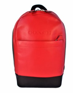 Coach Red Black Charles Backpack