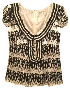 Nanette Lepore Top Black and white print