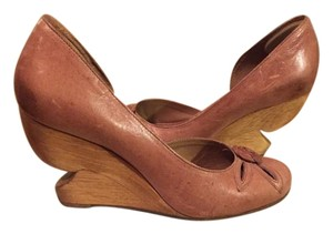 Miss Albright Wooden Heel Mauve Anthropologie Purple Wedges