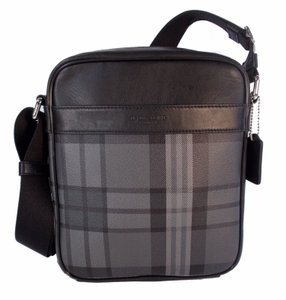 Coach Gray Black Plaid Shoulder Bag