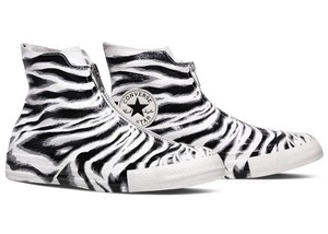 Converse Chuck Taylor All Star Zebra Sneaker Zip Front black/white Flats