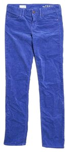 Gap Corduroy Winter New Skinny Pants Royal Blue