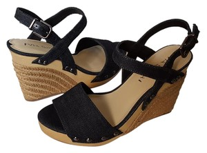 Via Spiga Wallis Espadrille Denim Wedges