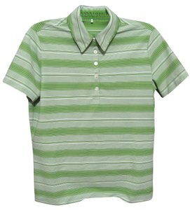 Nike Dri Fit Golf Dry Fit Polo Shirt Striped Short Sleeve Collared 8 10 T Shirt green