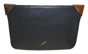 Brian Atwood Leather Black Clutch