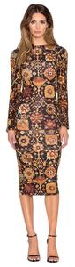 Maxi Dress by Ronny Kobo Collection Floral Longsleeve Bodycon Midi