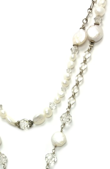 Kinley Sterling silver Rosary Cross Crystal Kinley Necklace in Pearls Image 4
