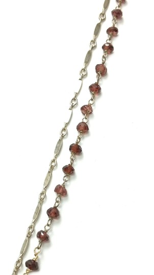Kinley Sterling silver and Garnet Cross Kinley Necklace Image 3