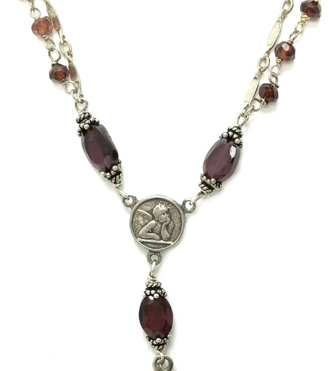 Kinley Sterling silver and Garnet Cross Kinley Necklace Image 5