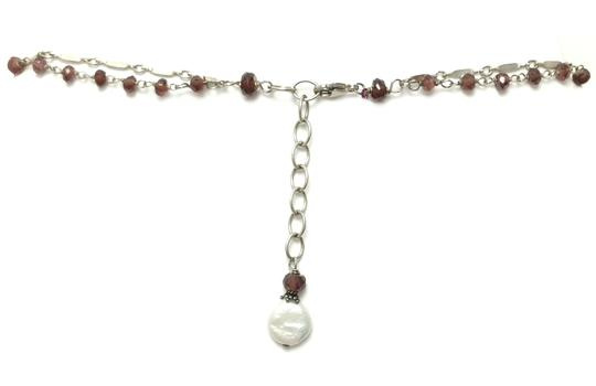 Kinley Sterling silver and Garnet Cross Kinley Necklace Image 6