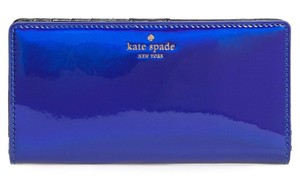 Kate Spade Kate Spade Rainer Lane Iridescent Night Life Blue Stacy Wallet Pwru5201