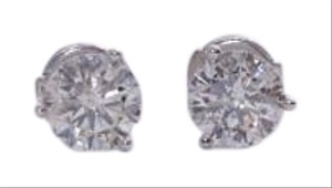 Other Estate 2ctw Round Diamond Stud Earrings