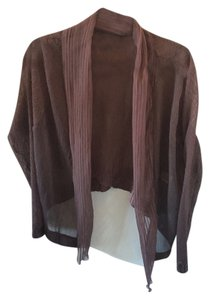 Komarov Pleated Silk Cardigan