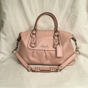 Coach Ashley Signature C Leather Satchel in Pink