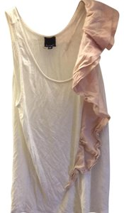 Anthropologie Top Cream & pink