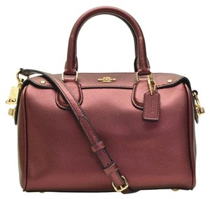 Coach Mk Lv Tb Gucci Prada Satchel in Metallic Cherry