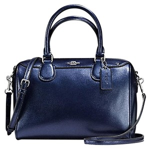Coach Mk Lv Tb Gucci Prada Satchel in midnight blue