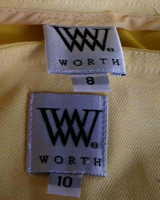 Worth NWT WORTH Yellow Cotton Blend Skirt Vest Suit 8/10