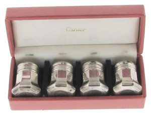 Cartier Cartier Silver (8) pairs Salt & Pepper shakers in 3 original boxes