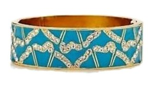 Kate Spade Garden Grove Embellished Hinge Bangle Bracelet Turquiose