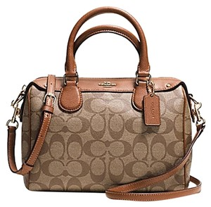 Coach F36689 Bennett Satchel in saddle gold
