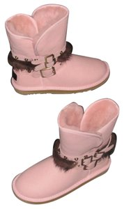 Australia Luxe Collective 3 Buckled Straps Pink Boots