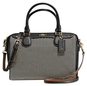 Coach F36689 Bennett Satchel in GOLD/MILK/BLACK