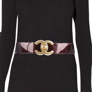 Chanel Extra Wide Patent Leather Belt