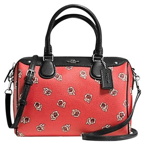Coach F36689 Bennett Crossbody 36702 Satchel in SILVER/WATERMELON