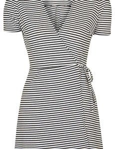 Topshop short dress Navy blue and white on Tradesy