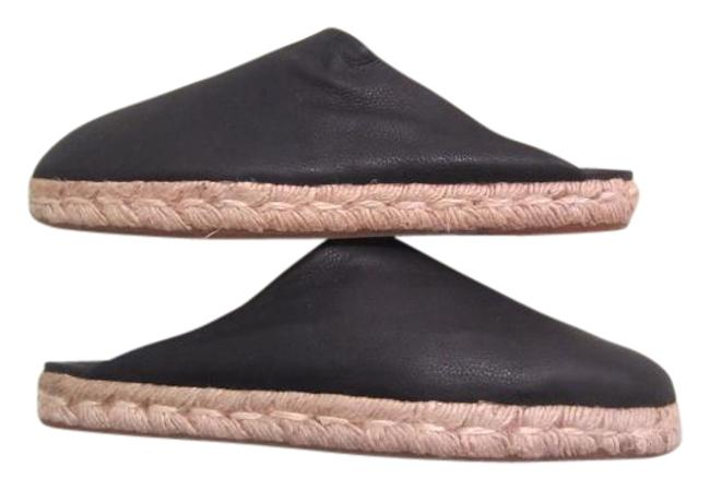 Item - Black Espadrille Leather Mules/Slides Size US 9.5 Regular (M, B)