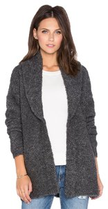 Joie Soft Wool Oversize Sweater Grey Knit Cardigan